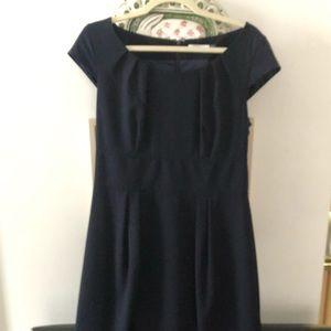 Navy Clavin Klein Fitted Dress